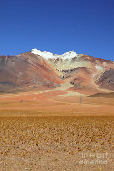Photograph - Tuyajto Volcano And High Altitude Puna Desert Chile by James Brunker