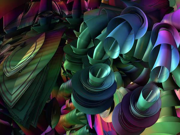Fractal Landscape Digital Art - Tw 170 by Kaleb Larsen