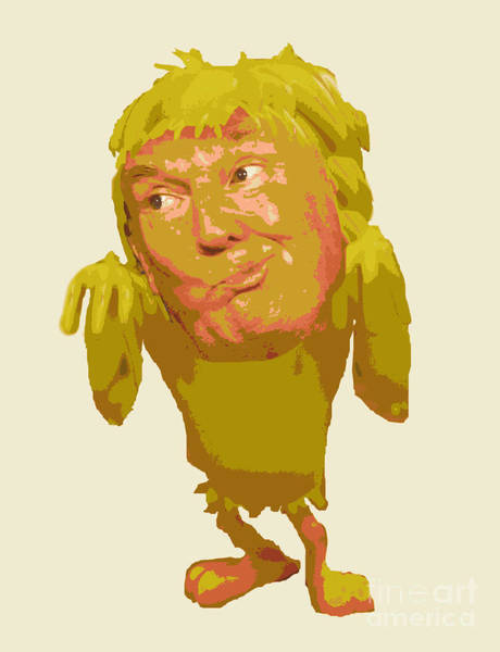 Trump Cartoon Painting - Tweeting Bird Donald Trump by John Malone