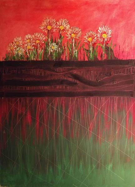 Painting - Twelve Daises In Window Box by Edward Longo