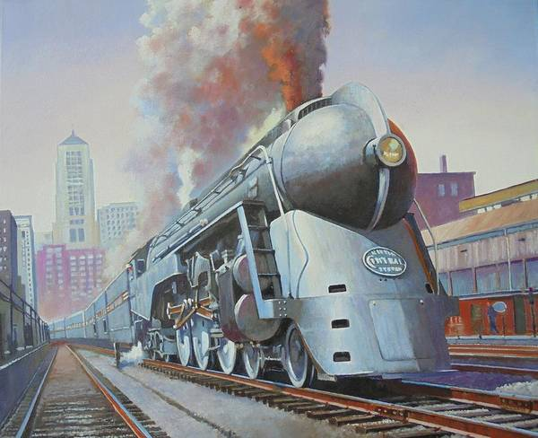 Trains Painting - Twenthieth Century Limited by Mike Jeffries