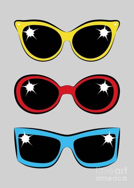Digital Art - Twentieth Century Sunglasses by MM Anderson