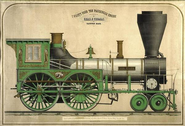 Model Trains Painting - Twenty Four Ton Passenger Engine by MotionAge Designs