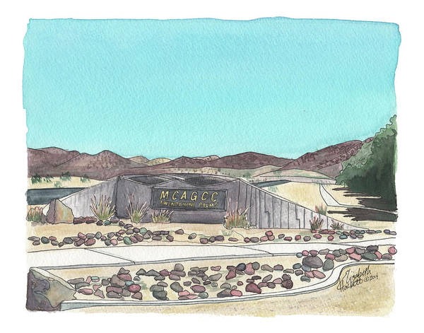 Painting - Twentynine Palms Welcome by Betsy Hackett