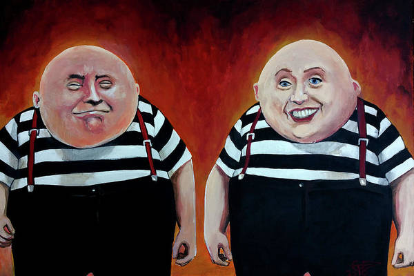 Election 2016 Painting - Twiddledee And Twiddledumb by Tom Carlton
