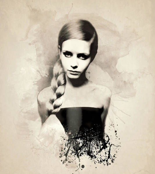 Wall Art - Painting - Twiggy by Laurence Adamson