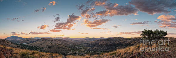Photograph - Twilght Panorama Of Davis Mountains State Park Blue Mountain And Mount Livermore - Fort Davis Texas by Silvio Ligutti