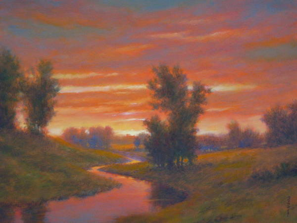 Wall Art - Painting - Twilight Ablaze by Barry DeBaun