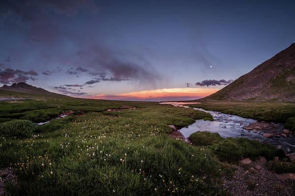 Photograph - Twilight Alpine Stream by Chris Bordeleau