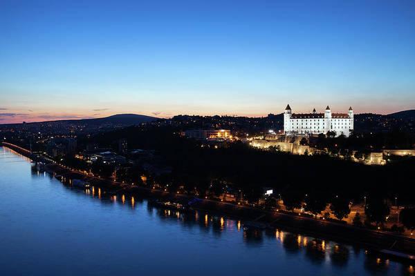 Bratislava Photograph - Twilight At Danube River In Bratislava City by Artur Bogacki
