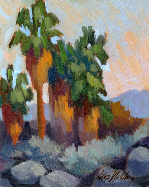 Wall Art - Painting - Twilight At Indian Canyons  by Diane McClary