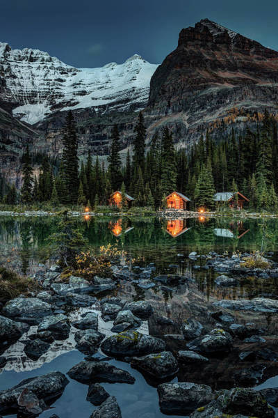Photograph - Twilight At O'hara Lake Lodge by Pierre Leclerc Photography