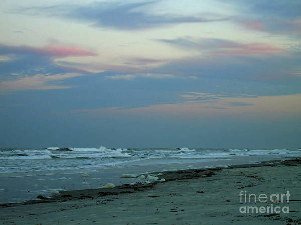 Photograph - Twilight At Ponce Inlet Beach by D Hackett