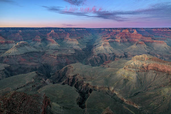 Photograph - Twilight At South Rim Grand Canyon by Shuwen Wu
