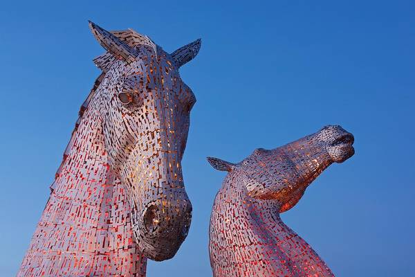 Photograph - Twilight At The Kelpies by Stephen Taylor