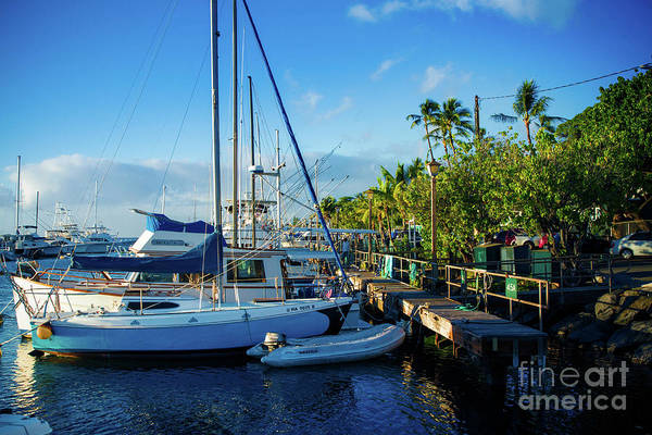 Photograph - Twilight At The Marina Lahaina Harbour Maui Hawaii by Sharon Mau