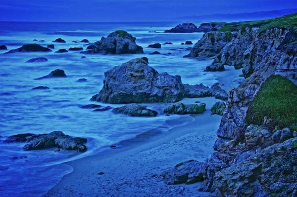 Photograph - Twilight Blue, Noyo Headlands, Ft. Bragg, California by Flying Z Photography by Zayne Diamond