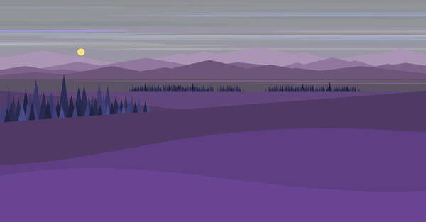 Digital Art - Twilight Blue by Val Arie
