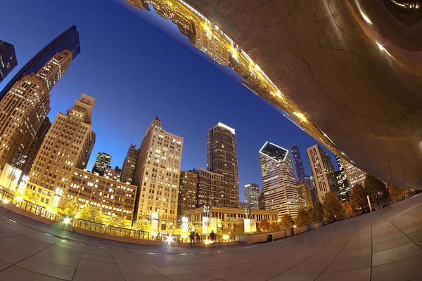 Photograph - Twilight Chicago Skyline  by Sven Brogren