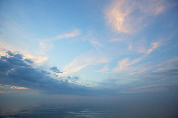 Twilight Clouds Over Lake Superior Art Print