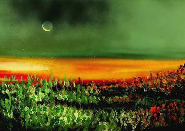 Wall Art - Painting - Twilight Field by Nandor Molnar