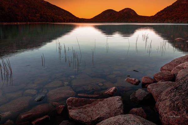 Photograph - Twilight Glow On Jordan Pond by Tim Bryan