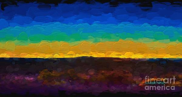 Painting - Twilight In Taos Lx by Charles Muhle