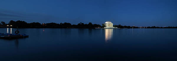 Jefferson Photograph - Twilight Jefferson Memorial Panorama by Andrew Soundarajan