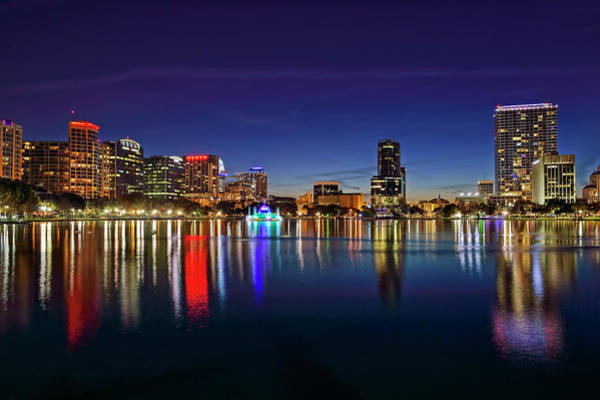 Photograph - Twilight Lake Eola by Bill Dodsworth