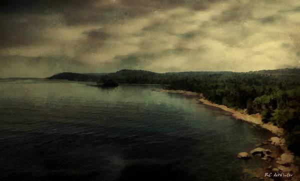 Painting - Twilight Lake by RC DeWinter