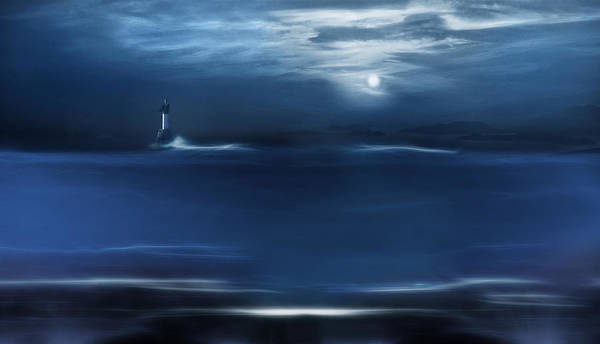 Twilight Moon Art Print