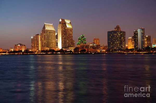 Wall Art - Photograph - Twilight On San Diego Harbor by Sandra Bronstein