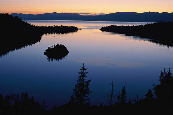 Emerald Bay Photograph - Twilight Over Emerald Bay by Phil Schermeister