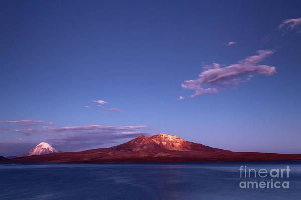 Photograph - Twilight Over Lake Chungara Chile by James Brunker