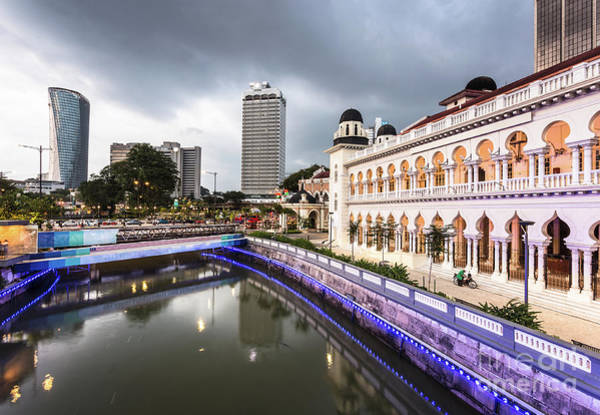 Photograph - Twilight Over The Klang River In Kuala Lumpur In Malaysia Capita by Didier Marti