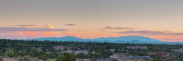 Photograph - Twilight Panorama Of Santa Fe Cityscape With Sandia Mountains In The Background - New Mexico  by Silvio Ligutti