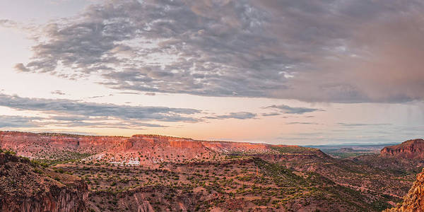 Land Of Enchantment Photograph - Twilight Panorama Over Kwage Mesa From White Rock Over by Silvio Ligutti