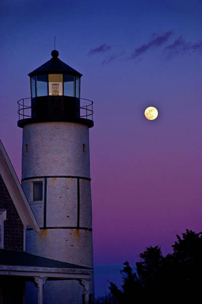 Photograph - Twilight At Sandy Neck Lighthouse by Charles Harden