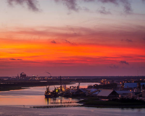 Photograph - Twilight Ships In Port by Chris Bordeleau