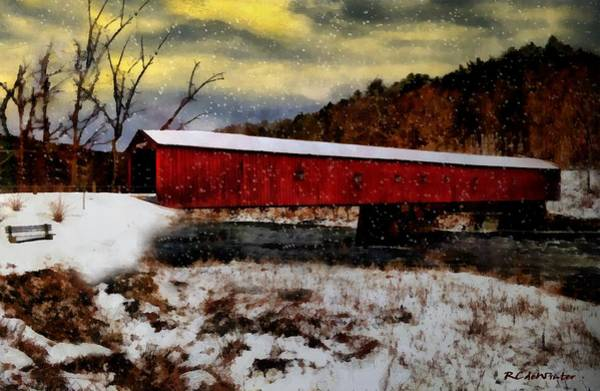 Painting - Twilight Snow by RC DeWinter