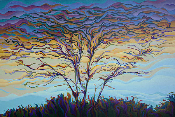 Painting - Twilight Ta-pes-tree by Amy Ferrari