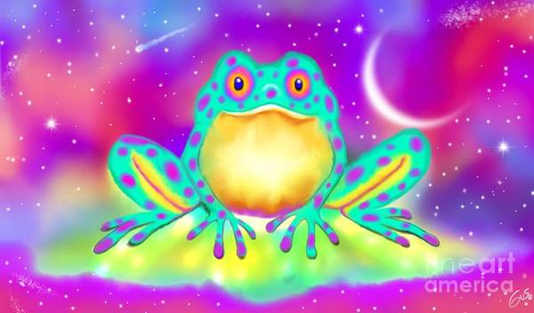 Wall Art - Painting - Twilight Toad by Nick Gustafson