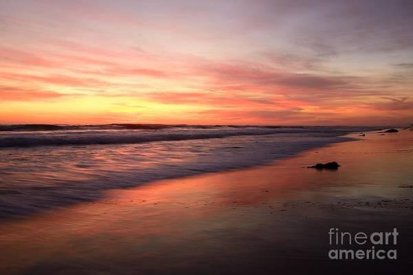Photograph -  Encinitas Waves by John F Tsumas