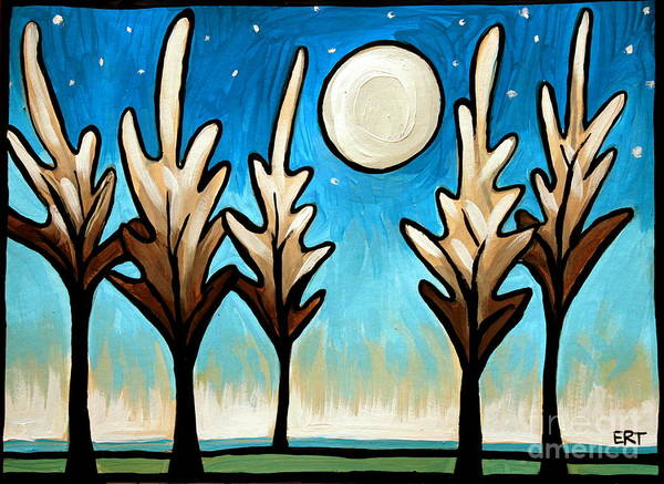 Painting - Twilight Woods by Elizabeth Robinette Tyndall