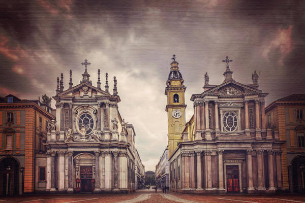 Italia Photograph - Twin Churches Of Turin  by Carol Japp