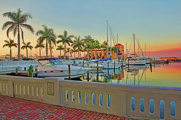 Wall Art - Photograph - Twin Dolphin Marina by HH Photography of Florida
