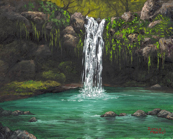 Painting - Twin Falls 2 by Darice Machel McGuire