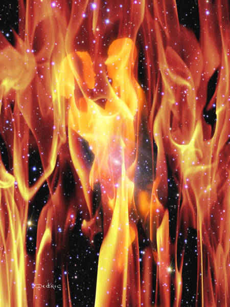 Flames Digital Art - Twin Flames by Dedric Artlove W
