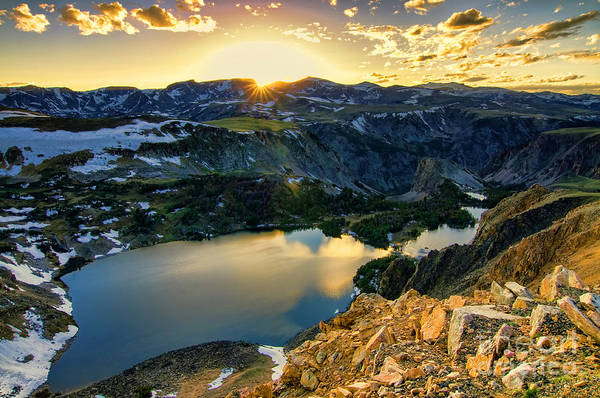 Photograph - Twin Lakes Sunset by Gary Beeler
