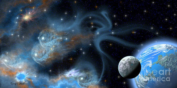 Endless Painting - Twin Nebula by Corey Ford